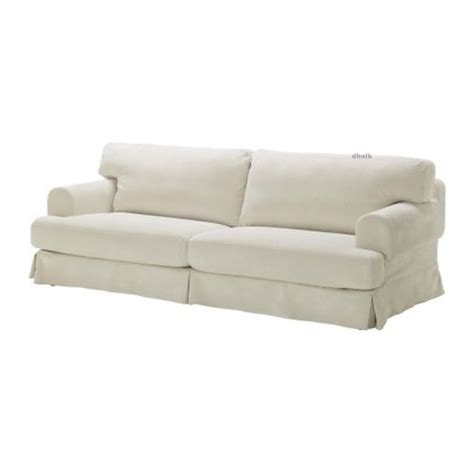 white slipcovers for couch ikea hov 197 s hovas sofa slipcover cover graddo beige off