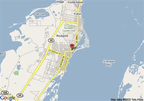 map rockport texas map of days inn rockport rockport