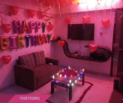 romantic room decoration  surprise birthday party