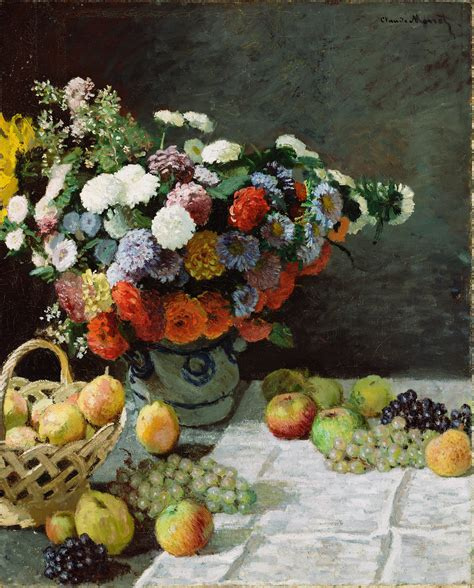 flowers and fruit file claude monet still with flowers and fruit project jpg