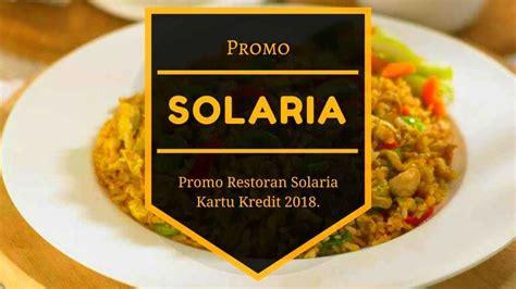 promo solaria kartu kredit diskon hingga  travels promo
