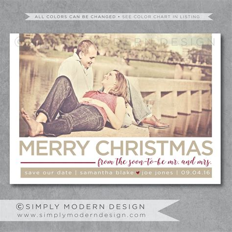 save the date christmas card soon to be mr and mrs