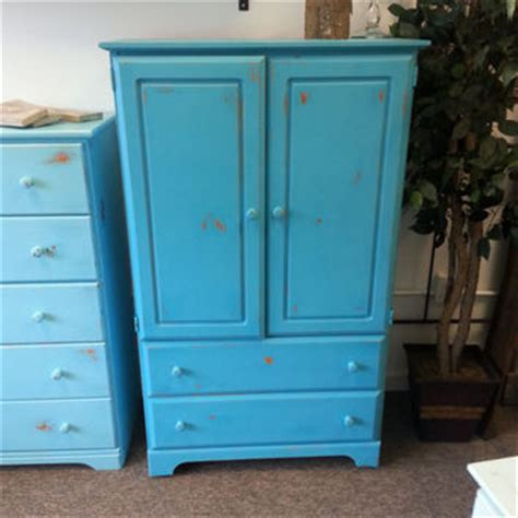 blue armoire shop distressed armoire on wanelo