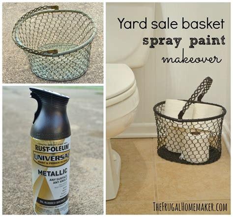 spray paint sale yard sale basket spray paint makeover