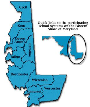 map of maryland eastern shore and delaware esmec eastern shore of maryland educational consortium