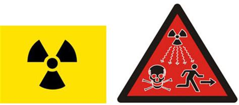 imagenes de simbolos radiactivos redise 241 o del s 237 mbolo que advierte de la radiactividad