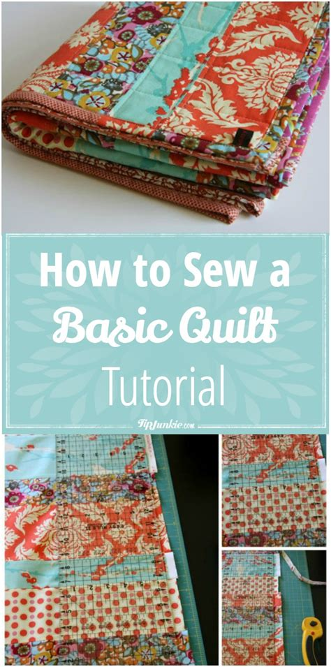 how to sew a basic quilt tutorial tip junkie