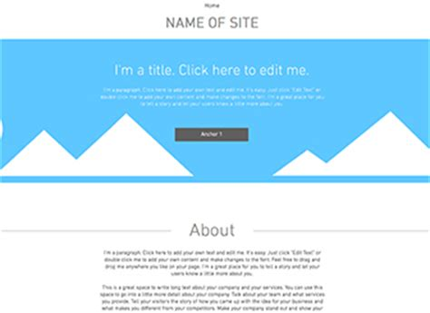 one page layout website template wix