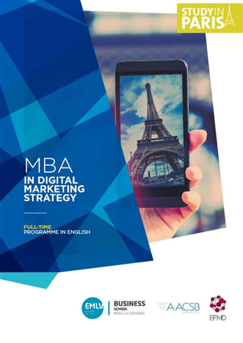 Mba Strategy Schools by Mba Digital Marketing Strategy Emlv Business School