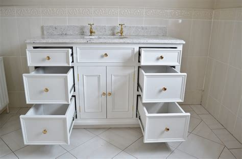 Large Bathroom Cupboard - deanery bespoke undermounted large bathroom cabinet