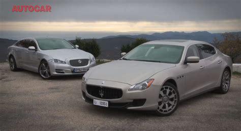 autocar compares maserati quattroporte vs jaguar xj