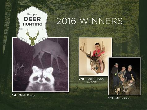 Deer Hunting Sweepstakes - badger deer hunting photo contest winners badger corrugating company
