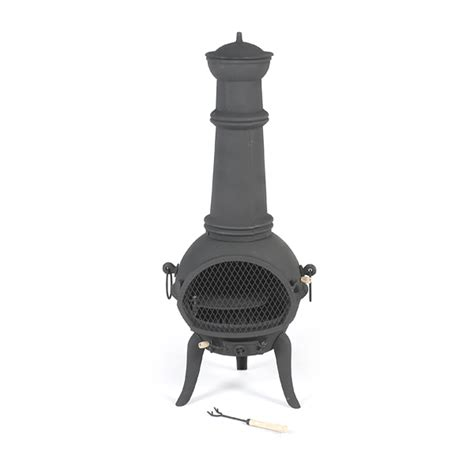 cast iron chiminea large chimineas large sale fast delivery greenfingers