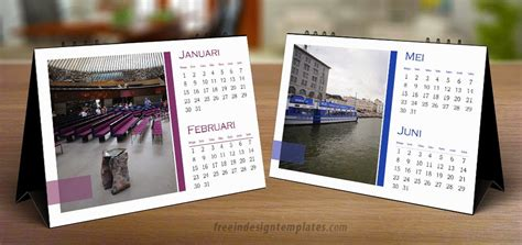 free indesign desk calendar template free indesign