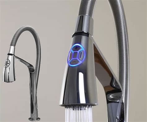 electronic kitchen faucets aquabrass unveils high tech i spray electronic kitchen
