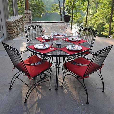 wrought iron patio dining set wrought iron patio dining set cushion new ideas wrought