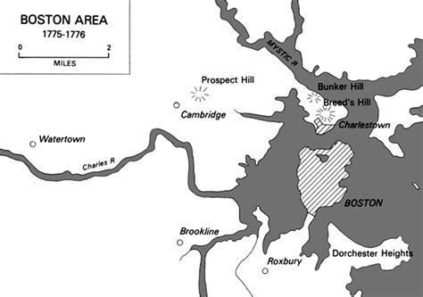 boston map 1776 office of history