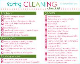spring cleaning checklist to do list template