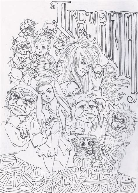 jim hensons labyrinth free coloring pages