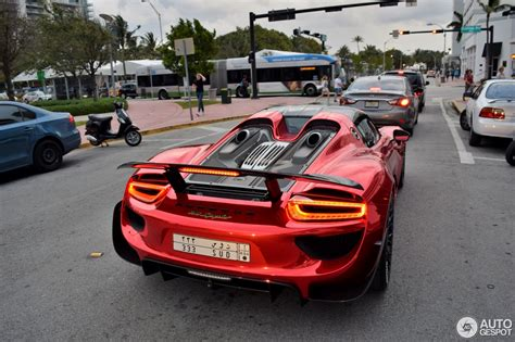 chrome porsche porsche 918 spyder in chrome red makes it presence felt at