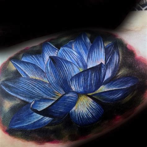 blue lotus flower tattoo 100 lotus flower designs for cool ink ideas