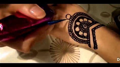 simple henna design youtube simple cute henna design youtube