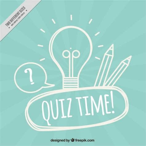 background quiz blue quiz background with light bulb and pencils vector