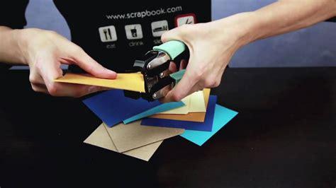 How To Make A Paper Chomper - we r memory keepers crop a dile corner chomper