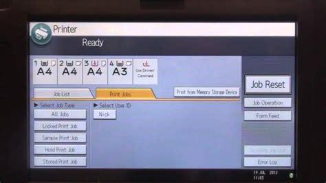 how to display prints print locked print secure printing on ricoh