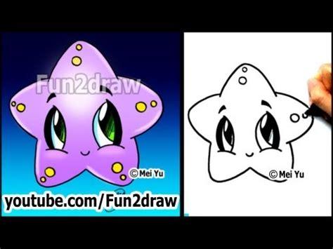 fun2draw starfish fun2draw stars by the funny drawers