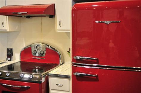 kitchen inspiration red appliances kitchen design