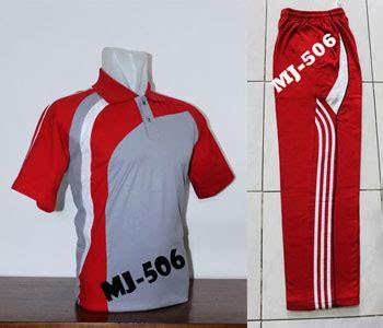 Grosir Stelan Trening Kaos Olahraga Putih Merah grosir kaos seragam olahraga termurah di jakarta