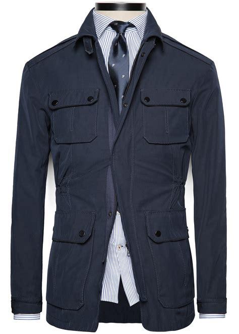 Premium Parka Navy mango premium field jacket in blue for navy lyst