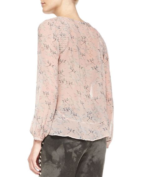Smock Shoulder Blouse pam gela smock shoulder floral print blouse