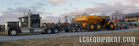 volvo ah rock truck  lowbed  hauled lcg equipment