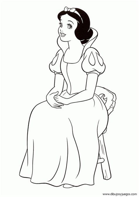imagenes para pintar blancanieves dibujo blancanieves disney 008 dibujos y juegos para