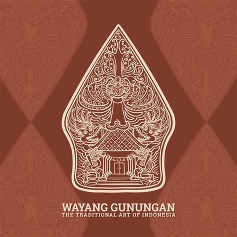 gunungan wayang  vector art   downloads
