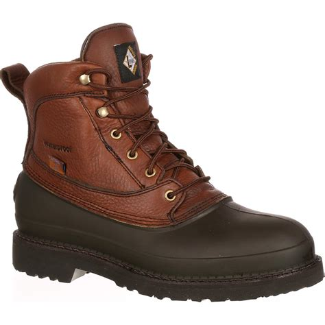 safety work boots for rugged 6 quot lehigh steel toe waterproof swers work boot