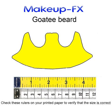goatee templates size charts