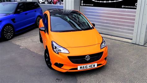 vauxhall orange vauxhall corsa wrapped matte orange aka opel corsa