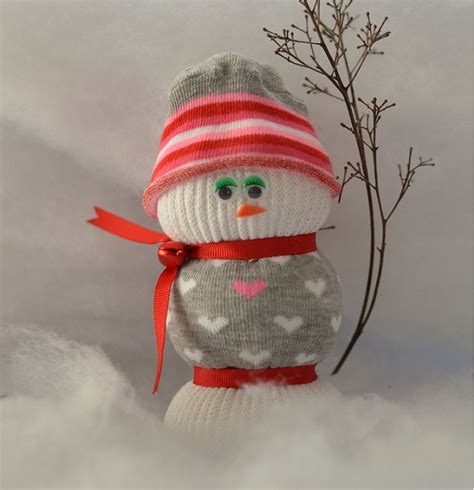 sock snowman filling sock snowman sock snowmen rice filled s