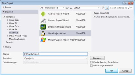 qt tutorial c ubuntu creating qt5 projects on ubuntu with visual studio