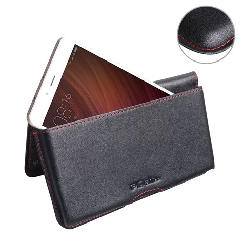 Leather Goods Pouch Premium For Xiaomi Redmi Note Gold xiaomi redmi note 4 leather wallet pouch stitch