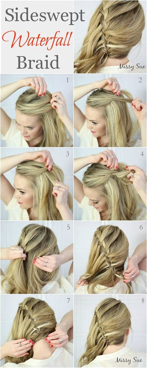 how to waterfall braid step by step 10 best waterfall braids hairstyle ideas for long hair