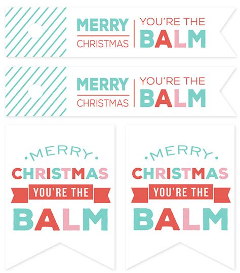 The Balm Of Your eos lip balm quot candies quot and free printable gift tags