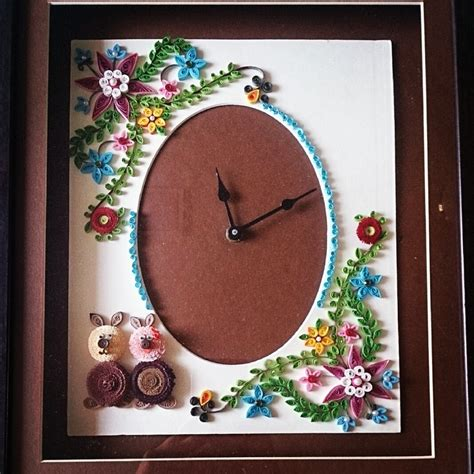 paper quilling wall frames tutorial paper quilling wall clock by janhavik on deviantart