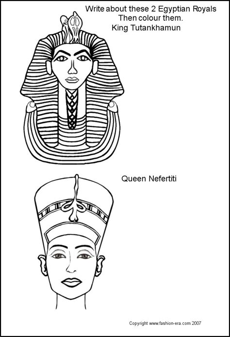 Egyptian Mask Coloring Pages King Tut Page   grig3.org