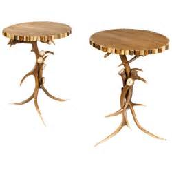 Antler Table L A Pair Of Antler End L Tables For Sale At 1stdibs