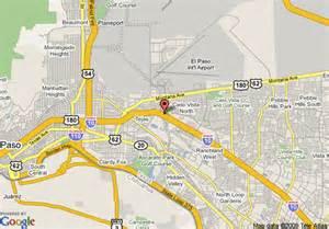 where is el paso on a map map of inn el paso airport el paso