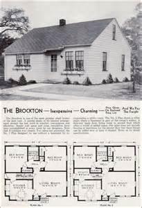 Minimal Traditional Cottage 1940 Aladdin Brockton Mid 1940 Style House Plans